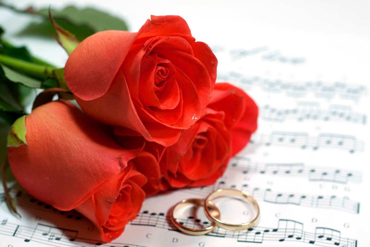 Открытки музыкальные 15 свадьба